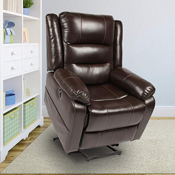 Homcom Power Lift Assist Recliner Chair For Elderly With Wheels And Remote Control Linen Fabric Uph Recliner Chair Leather Recliner Chair Lift Chair Recliners