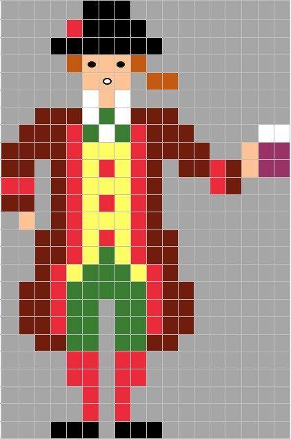Coding Unplugged e Pixel Art: la scheda di Carnevale di Gianduia - Maestro Alberto