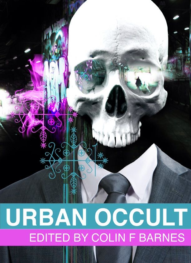 Book cover design for Anachron Press' Urban Occult anthology.