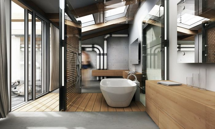 Les 25 meilleures id es de la cat gorie baignoire bois sur pinterest baigno - Deco murale industrielle ...