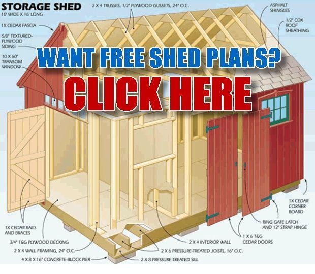 11 best shed plans 10x12 images on pinterest storage for Best shed plans
