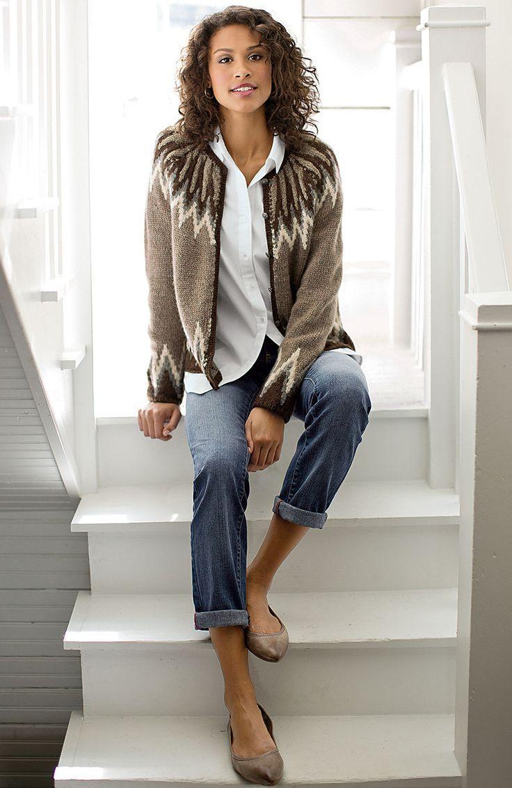 sweaters > vintage Fair Isle cardigan at J.Jill