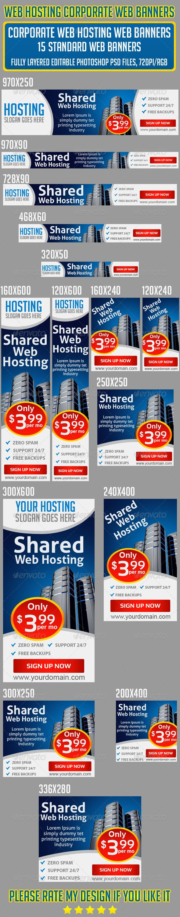 Web Hosting Banners Set Template PSD   Buy and Download: http://graphicriver.net/item/web-hosting-banners-set/6704876?WT.ac=category_thumb&WT.z_author=Asadktk&ref=ksioks