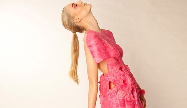 New Zealand designer Samantha Murray is a fashion magician; she can turn liquid into a dress! For her collection, titled Sweet Suspension, Murray eschewed all the typical components of garment construction to create a futuristic, whimsical line that could have come straight out of a child's active imagination.