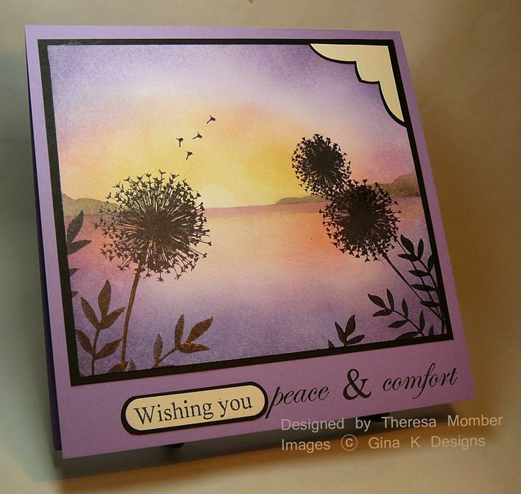 Card Making Ideas Gina K Part - 36: Theresa Momber : Crafting The Web: Peaceful Wishes - (Pin Background:  Sponging. Find This Pin And More On Gina K Card ...