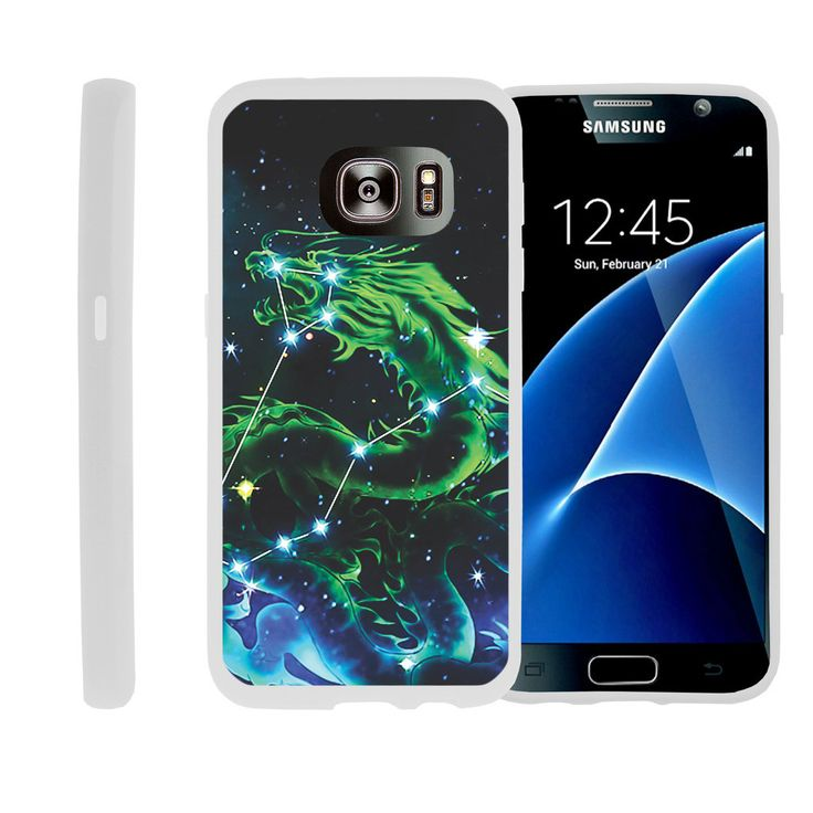 Galaxy S6 Edge Plus FLEX FORCE Flexible Slim Fit Case - Dragon Stars