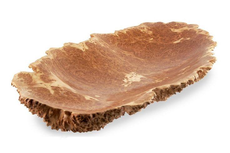 Long Natural Edge Yellow Mallee Wooden Burl Bowl Online | Australian Woodwork