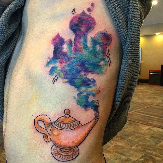 17 best ideas about genie lamp on pinterest disney for Aladin tattoo salon