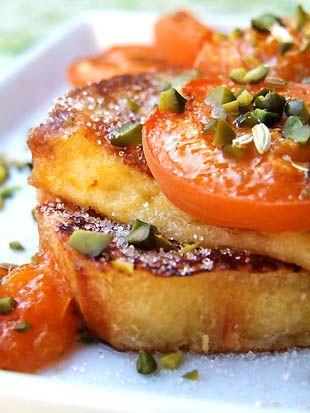 Recette Brioche perdue aux abricots rôtis, aux pistaches et aux graines de fenouil par Cuisine campagne
