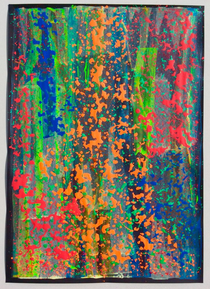 BYMTATE Acrylic on black paper, 84cm x 59.5cm.