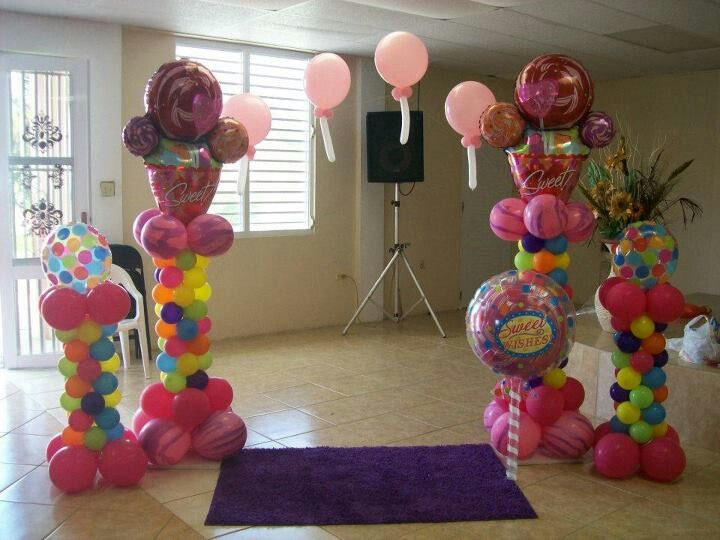 Candyland decorations balloon decor