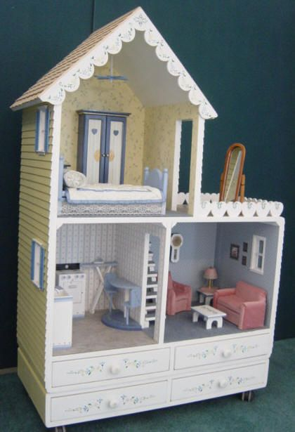 wooden barbie doll houses patterns | Barbie Dollhouse Chalet