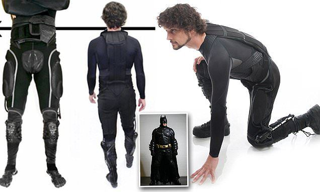 The real life BATSUIT: 'Superflex' suit includes hidden exoskeleton to give wearer superhuman strength