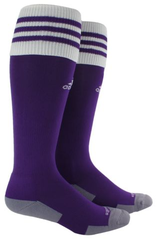 An ideal soccer sock for all levels of play, with a lightweight construction for a close fit and excellent ball touch, as well as adidas ClimaLite construction to wick moisture. Toe cooling channel pr