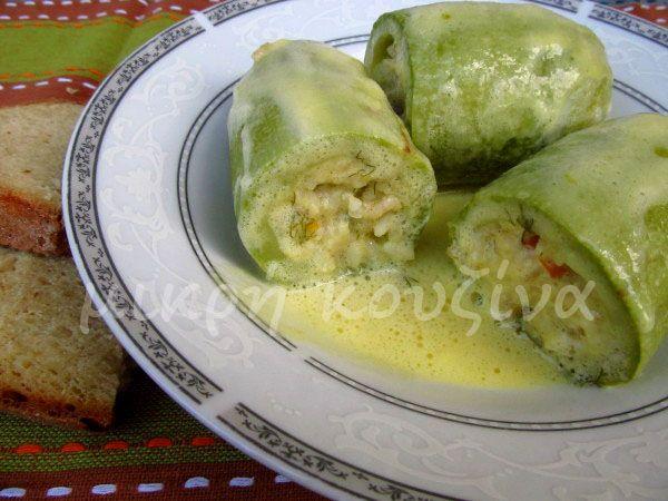 μικρή κουζίνα: Κολοκύθια γεμιστά αυγολέμονο, χωρίς κιμά