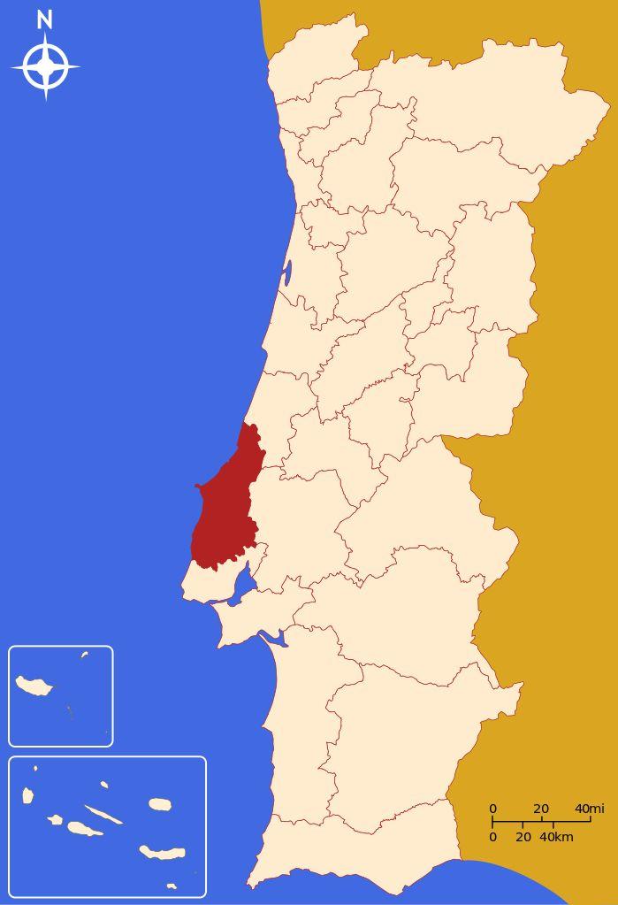 Près de Lisbonne, à region ouest