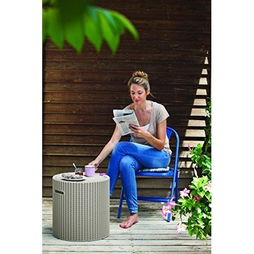 Stool Bar Cooler Garden Drinks Coffee Table Outdoor Box Ice Patio Furniture Seat