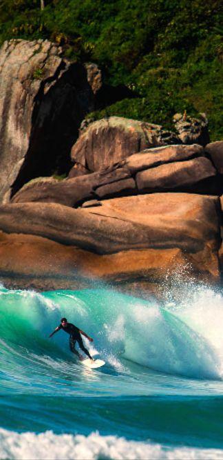 Surfer in Praia Mole, Florianopolis, Brazil • Chris Schmid Photography