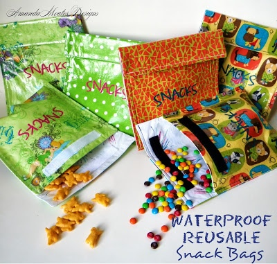 Waterproof Reusable Snack Bags {A Tutorial}