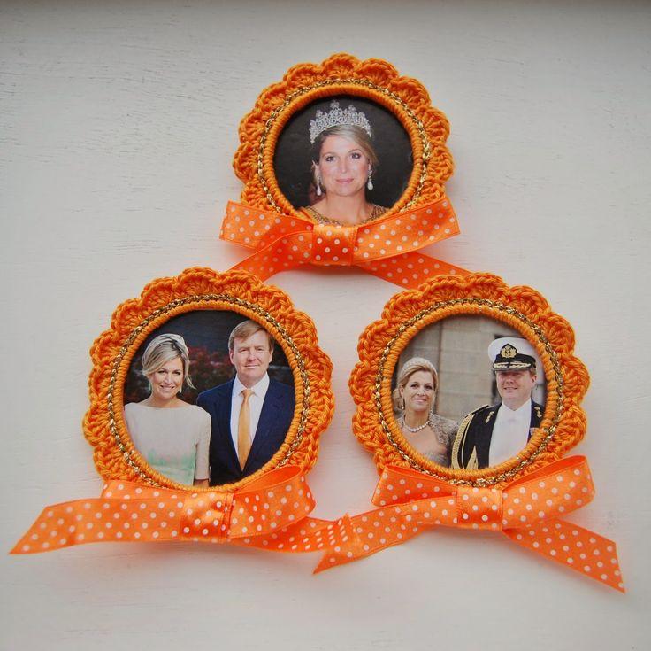 Koninklijke broches haken voor Koningsdag