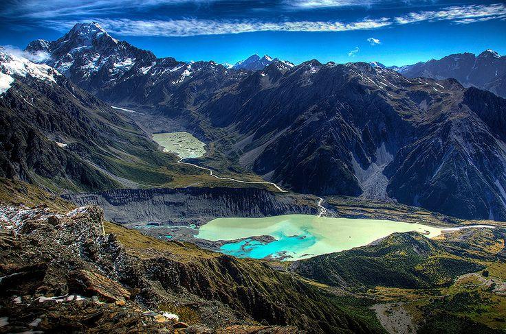 Jezioro w Nowej Zelandii