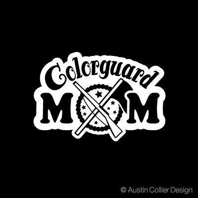 6 colorguard mom vinyl decal car window laptop sticker color guard flag squad