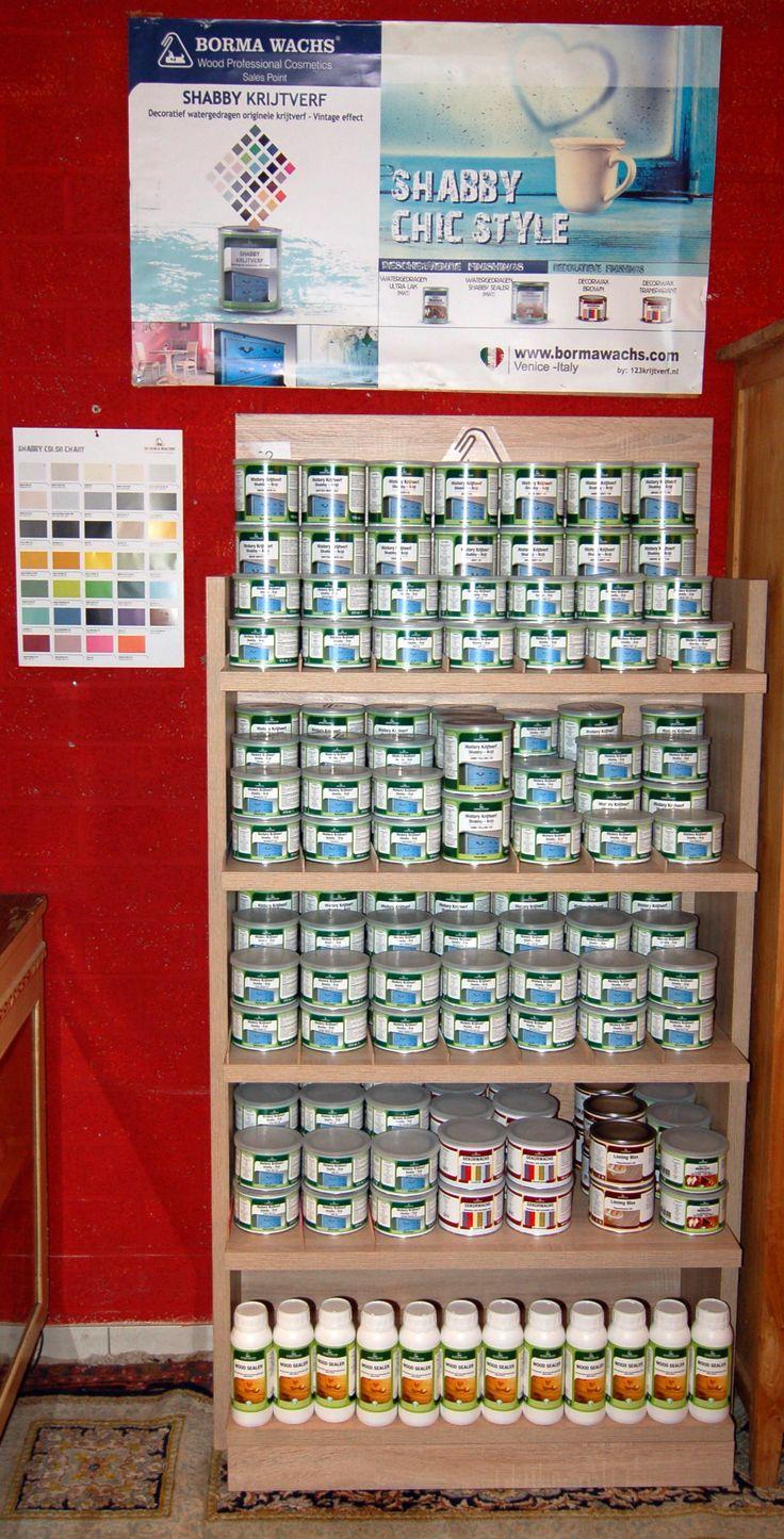 Krijtverf assortiment bij Adelheid Antiek in Heerlen : 25 prachtige kleuren