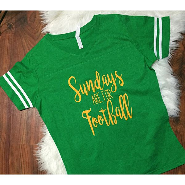 Sundays Are for Football Jersey Shirt S-2x Gameday Shirt Football... ($18) ❤ liked on Polyvore featuring tops, t-shirts, gold, women's clothing, baggy t shirt, baggy shirt, vintage shirts, vintage t shirts and vintage style t shirts