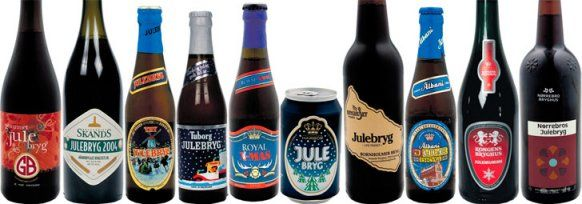 Different Danish Christmas brews  Read about the tradition here http://www.visitdenmark.com/en-gb/denmark/danish-christmas-food