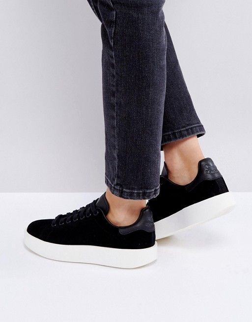 new products 3f4bb 571b9 Discover Fashion Online. adidas Originals Black Nubuck Stan Smith ...