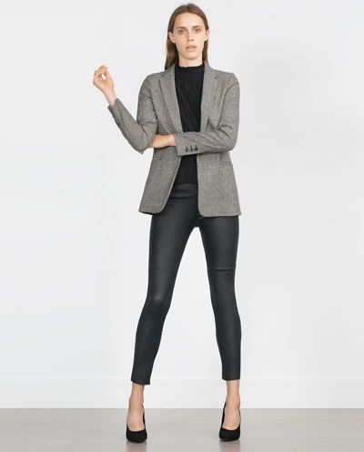 Image 1 of LEATHER TROUSERS from Zara