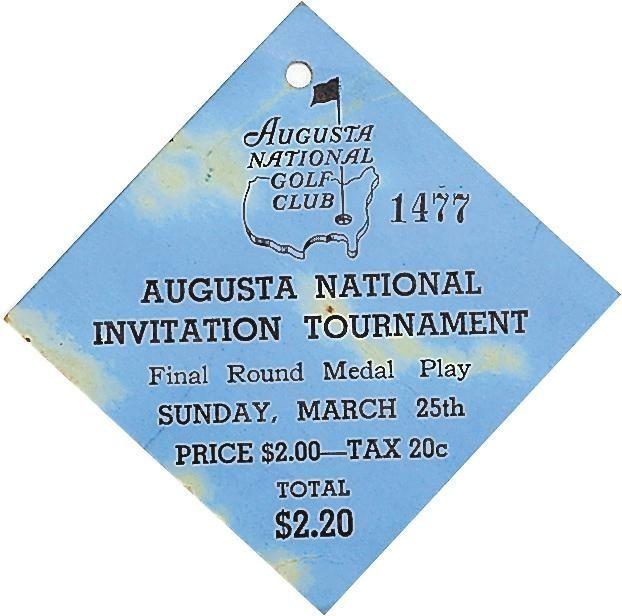 Masters Tournament Badges