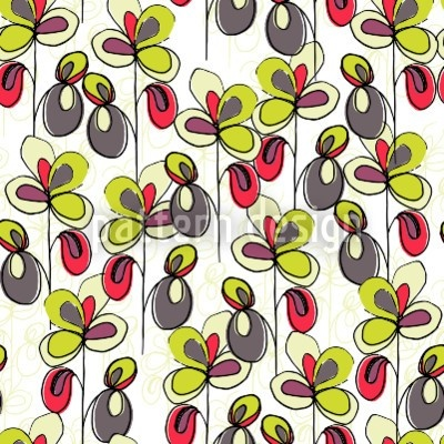 High-quality Vector Patterns from patterndesigns.com - Flowing-Flowers, designed by Bethania Lima
