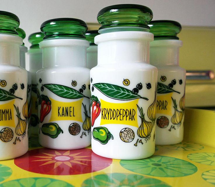 Retro spice jars
