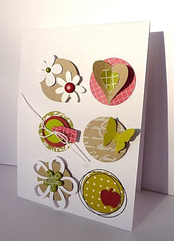 Cute ideas to embellish a card...Why didn't I think of this...mine will never look this adorable...