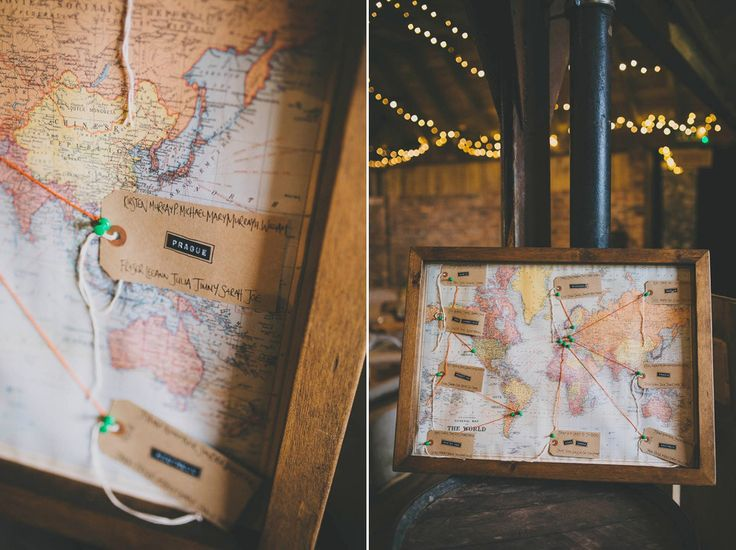 Vintage framed map wedding table plan | Photography by http://jenowensimages.com/