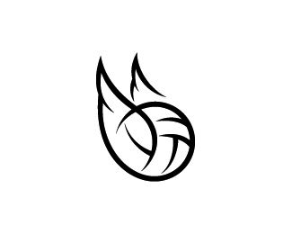 Wings logo for a volleyball team.