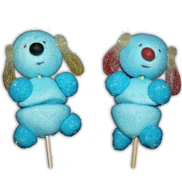 Brochettes chien bleu