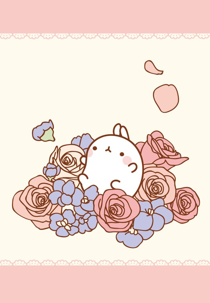 Cute Anime Lock Screen Wallpaper The Perfect Bed For A Nap Molang・몰랑이 Pinterest