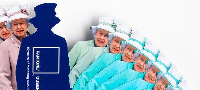 Em comemoração ao Jubileu de Diamante da Rainha Elizabeth II, a Pantone e a Leo Burnett Londres criaram uma paleta de cores em edição limitada.Além do corte da peça, o interessante é que as cores são baseadas de acordo com as roupas que a rainha aparecia nos eventos oficiais.