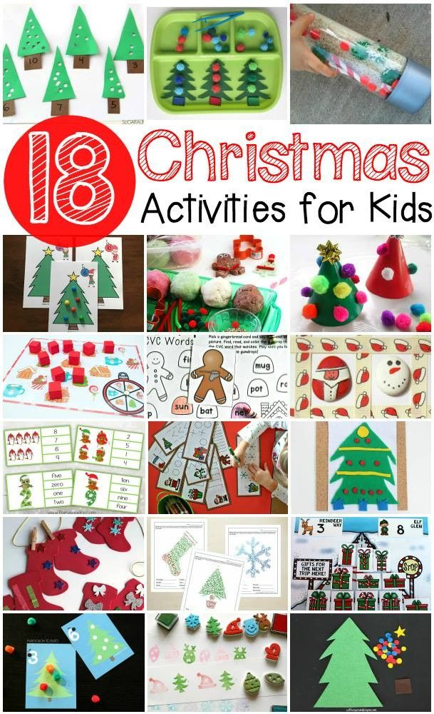 No shortage of ideas here! 18 fantastic Christmas activites for preschoolers and elementary school kids!
