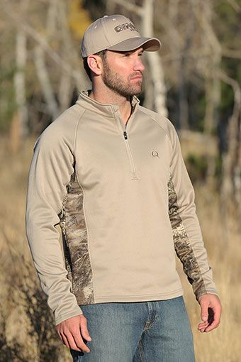 Cinch Men's Pullover 1/4 Zip Tech Hoodie - Grey  #cinch #mens #pullover #zip #camo #hunting #country #westernclothes #pungoridge ##westernbootsales