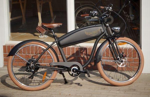 レトロバイク風の電動アシスト自転車「Ariel Rider」 - えん乗り