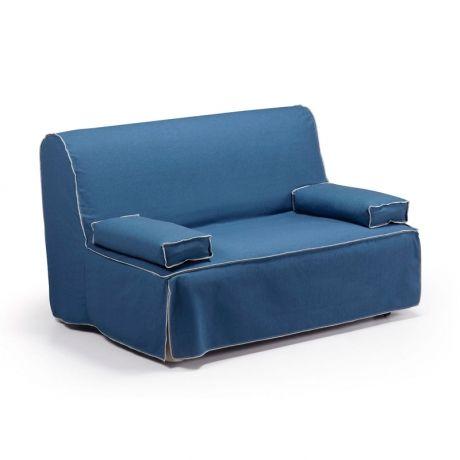 Sofá-cama 2 plazas Jolly, color azul oscuro · 406€