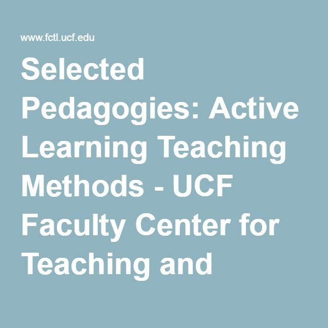 active learning and teaching methods pdf