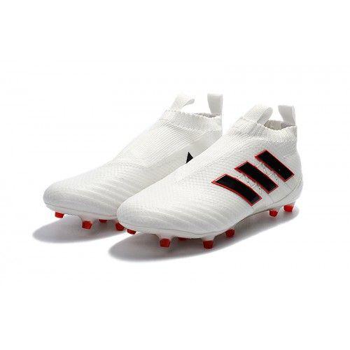 Günstige Adidas Ace17+ Purecontrol FG/AG Fußballschuhe Weiß Rot Schwarz