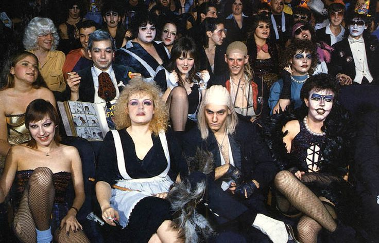 Rocky Horror audience... hopefully the midnight showing crowd for ours will be this awesome :)