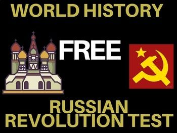 Russian Revolution Test written and group World History Free. #freetptresource #worldhistorylesson #socialstudies #russianrevolution #socialstudiesmegastore