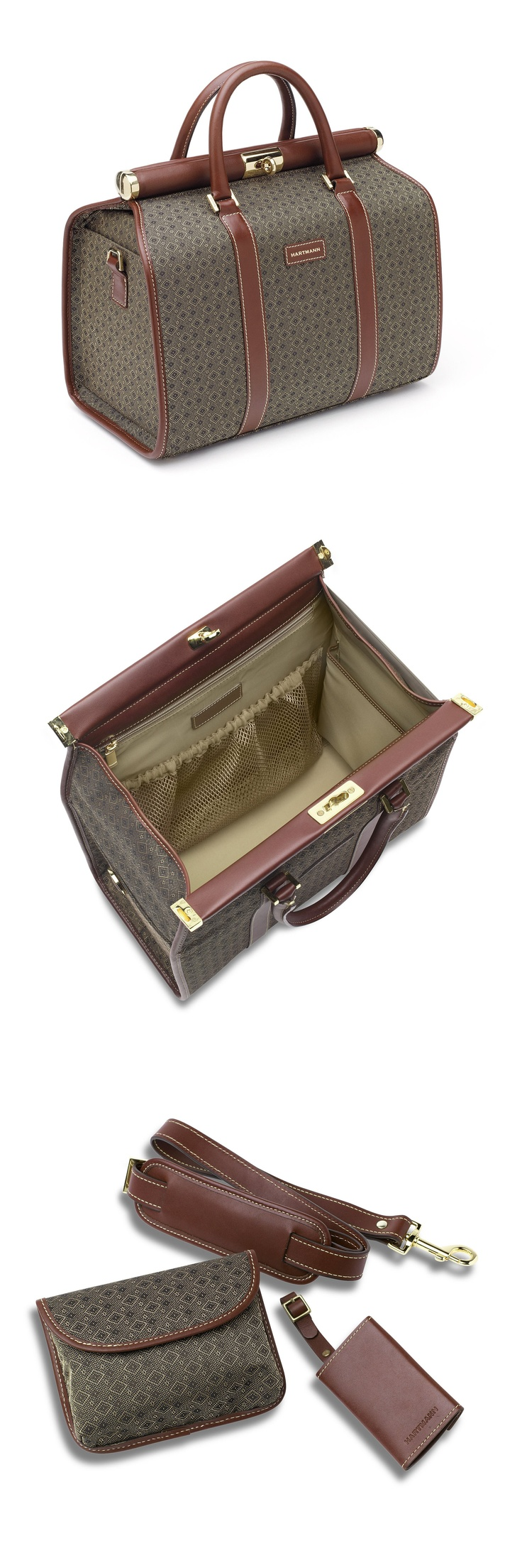 The Wings Collection: Cosmetic Case   Mini cosmetic pouch, adjustable full-size bottle holders and interior pockets for organization; comfortable tubular leather handles. Removable, adjustable leather shoulder strap with non-slip pad and custom Belting Leather luggage tag included. http://bit.ly/z8gRGt