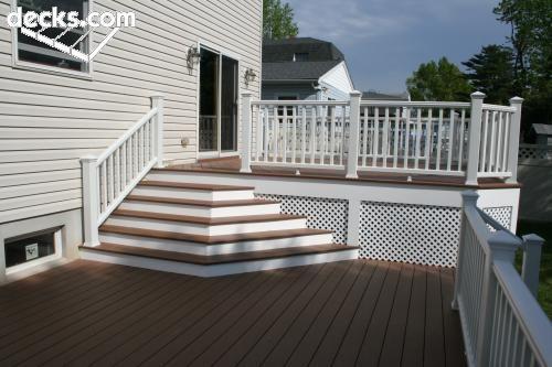 68 best hnh low maintenance wood decks images on for Compare composite decking brands